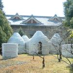 "Japan, Tenri University as a Model Ecological Design Center. Professor Inoue and his students have constructed 23 earthbag domes of various sizes in Japan. Hart says,""lovely precise symmetry and grace to these buildings that is essentially Japanese in nature."""